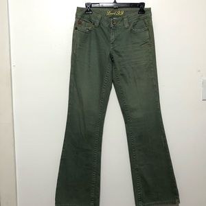 Level 99 Flare Leg Jeans Green size 27